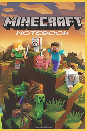 "Minecraft Notebook: Minecraft Journal, Notebook For Boys, For Girls, Notebook For Kids, Sketchbook, Diary | 120 Wide Ruled Blank Pages | 6"" x 9"""