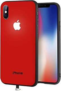 yacn iPhone X/Xs case red led Logo Light iPhone case Glowing Light Up Logo CaseIlluminate Cover (red, i-X/Xs)