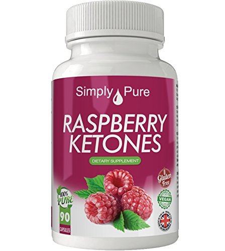 Raspberry Ketones Vegan Capsules x 90, 5000mg Equivalent, Gluten Free, Exclusive to Amazon.