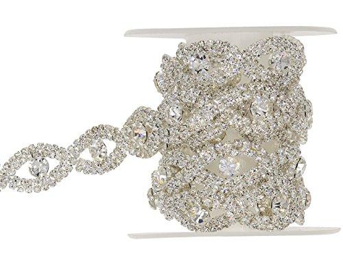 1 Yard Crystal Rhinestone Trim Rhinestone Applique Bridal Applique