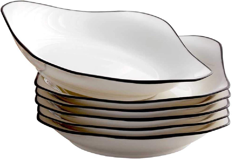 2019 Alden Pan Dish Home Assiette creuse voiturerée en céramique Noir Grand modèle 7-inch Disc Landscape Picturesque 4