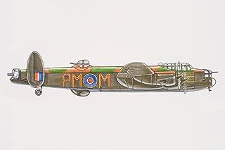 Avro Lancaster British Bomber with Dorsal Gun Turret Cubicle Locker Mini Art Poster 12x8