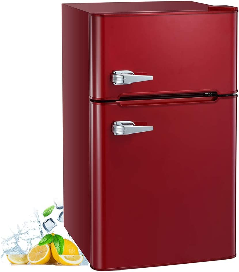 AGLUCKY 3.2 Cu.ft Compact 70% OFF Outlet Refrigerator w Fridge Ranking TOP15 Door Mini Double