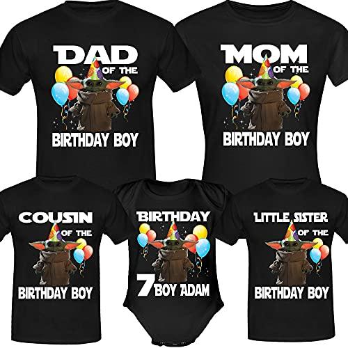 Personalised Baby Y.o.d.a Birthday Funny Birthday Girl,Boy, Custom Birthday Funny Custom Age Shirts, Birthday Tees Birthday Family Shirt Long Sweatshirt Hoodie Black