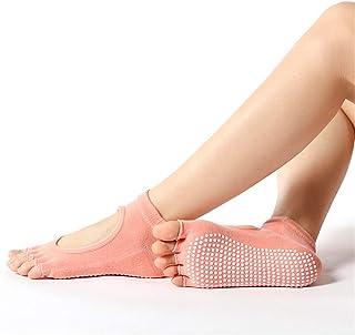 Calcetines De Yoga para Mujer Calcetines Antideslizantes De Pilates Absorción De Sudor Transpirable Dedos Expuestos Empeine Expuesto Ballet Danza Ejercicio Descalzo