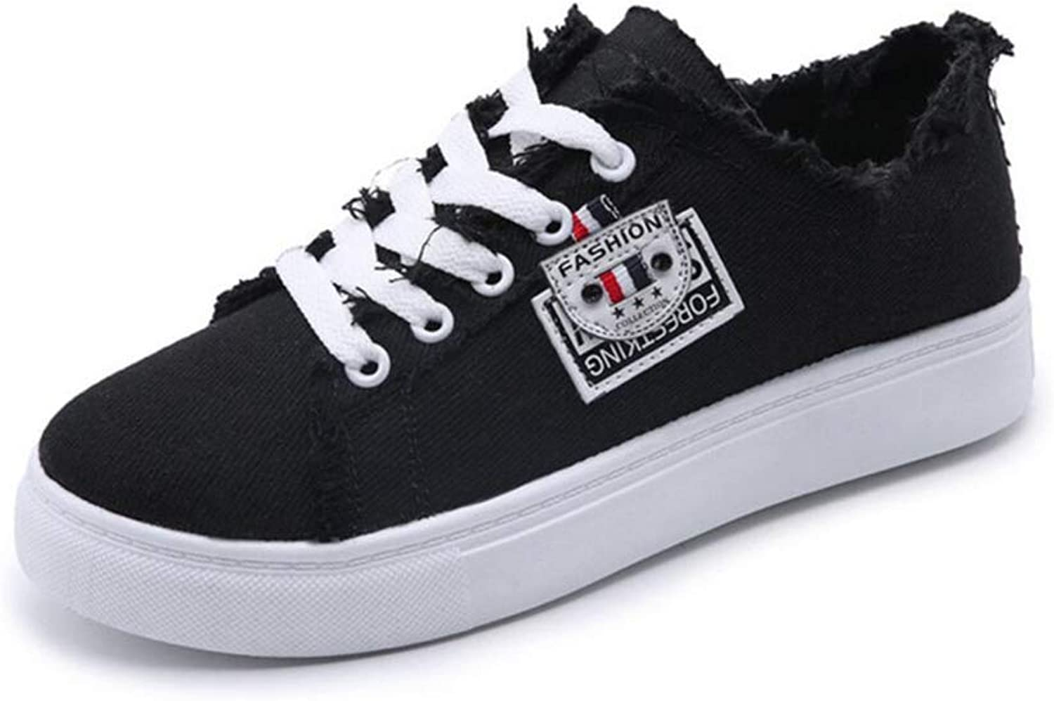 Women's Casual Low Cut Breathable Non-Slip Canvas shoes Wild lace-up Sneakers