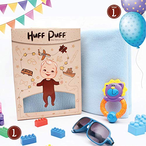 HuFF PuFF Baby Dry Sheet Washable Large Size, 140 x 100 cm, Cobalt | Waterproof & Quick Dry Bed Protector for Newborn Babies | Skin Friendly & Heat Free Mattress Protector for Kids & Adults