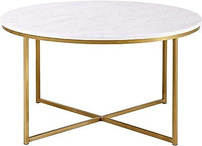 Superb Amazon Com We Furniture Azf36Alctmgd Modern Round Coffee Pabps2019 Chair Design Images Pabps2019Com