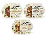 AMIO | My Gourmet | Multipack Piatti pronti (Lenticchie, Ceci, Zuppa) | Multipack | Piatto pronto in 1 minuto in microonde o padella | temperatura ambiente | 6 confezioni da 270g