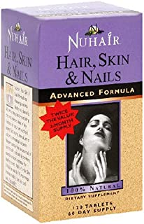 NuHair Hair, Skin, Nails, Advanced Formula Tablets, 120-Count Bottle