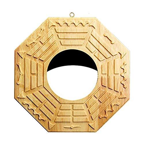 Zezego - Espejo Bagua Feng Shui en Chino Tradicional para la protección contra Las energías activas nocivas (Espejo Convexo/Espejo cóncavo), Miroir concave