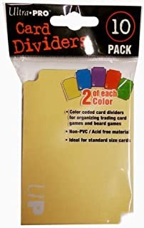 Ultra Pro Card Dividers - Colour Coded Dividers (10-Pack)