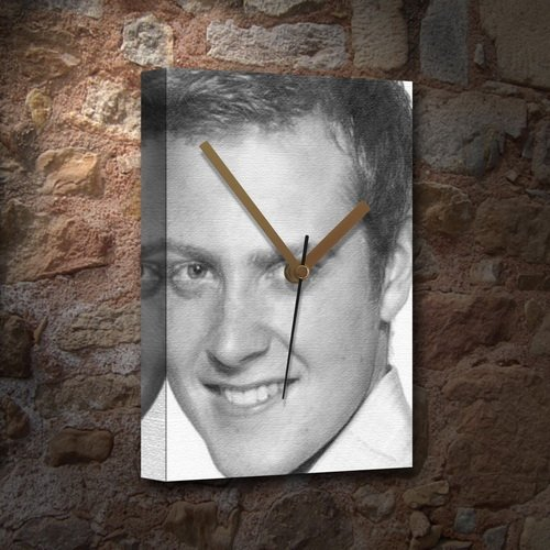 CHARLIE CLEMENTS - Canvas Clock (LARGE A3 - Signed by the Artist) #js001