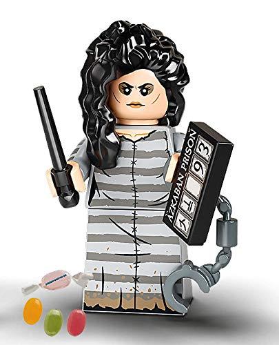 Serie 2 Lego® 71028 Harry Potter™ Minifiguren Figur 12 Bellatrix Lestrange zusätzlich 1 x Sticker-und-co Fruchtmix Bonbon