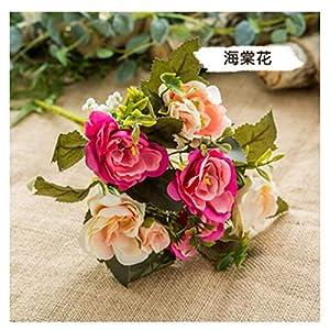 Silk Flower Arrangements JIAHUAHUHH Single Bundle of European Artificial Flowers, Fake Flowers, Single Decorative Silk Flowers,Begonia Flower Pink,30cm