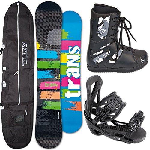 Unbekannt Trans Snowboard C1 Carbon ~ 153 cm + ELFGEN Team BINDUNG L + Boots + Bag
