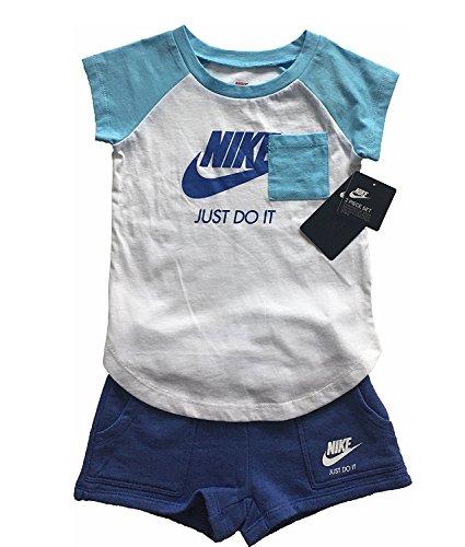 Nike 919-B9A Conjuntos, Sin género, Blanco, 18 Meses