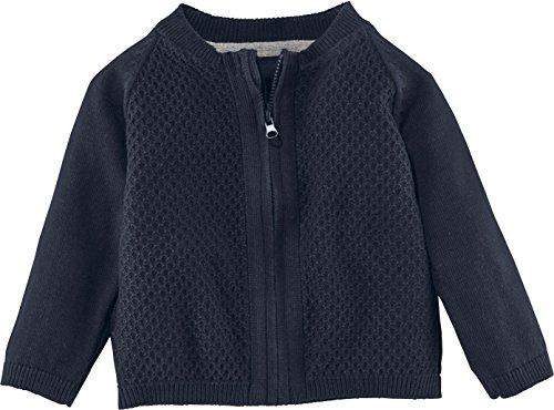 lupilu® Baby Jungen Strickjacke aus 100% Bio-Baumwolle mit Reißverschluss (Navy, Gr. 74/80)