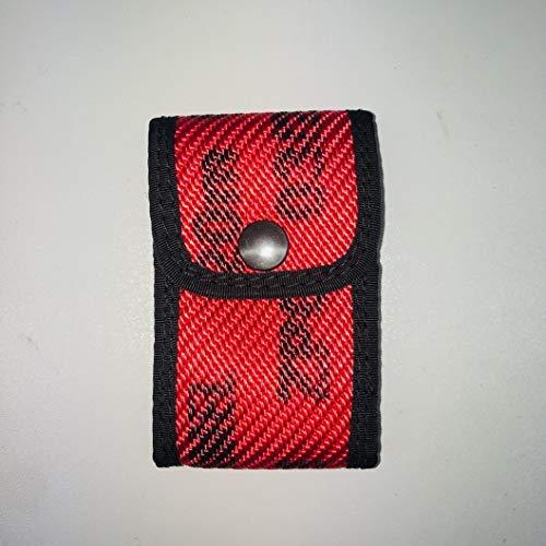 Roter Hahn 112 Feuerwehr DME Holster Piepser Tasche Melder Funkmeldeempfänger/Schlauch ROT/Original