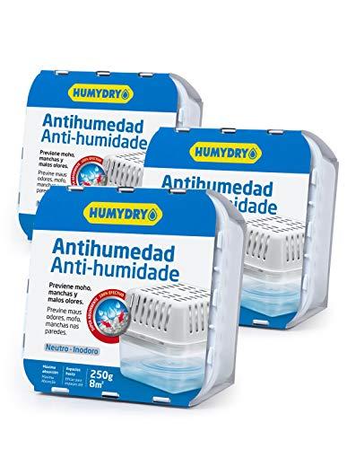 3er-Set HUMYDRY® Luftentfeuchter Compact 250g