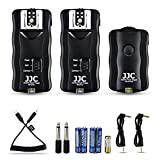 JJC 3-in-1 Wireless Flash Trigger & Shutter Remote Control with Two Receivers Kit for Sony A6600 A6500 A6400 A6300 A6100 A6000 A5100 A7 A7II A7III A7R A7RII A7RIII A7RIV A7S A7SII A9 II A99 II