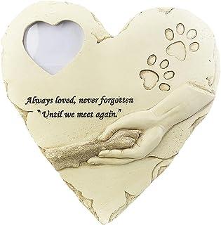 WNGGADH Cadre photo en forme de cœur avec poème pour animal de compagnie