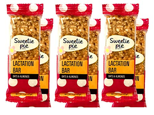 Sweetie Pie Organics Lactation Bars, 6 bars, Wholesome Alternative to Lactation Cookies. Dairy Free. A Yummy Lactation Supplement. Supports Milk Supply during Breastfeeding. More Wholesome than Lactation Cookies