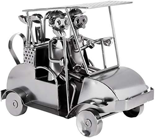 BRUBAKER Screw Man Golf Cart - Figura de Hierro Hecha a Mano Metal Man Golf - Figura de Metal de 24 cm Idea de Regalo para Jugadores y Aficionados Al Golf