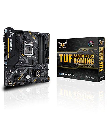 Asus Tuf B360M-Plus Gaming Mainboard Sockel 1151 (mATX, Intel B360, DDR4, M.2, Intel-Optane-Speicherunterstützung, USB 3.1 Gen 2, Aura Sync)