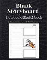 Blank Storyboard Notebook/Sketchbook: Cartoon Drawing, Comic Maker, Film Maker