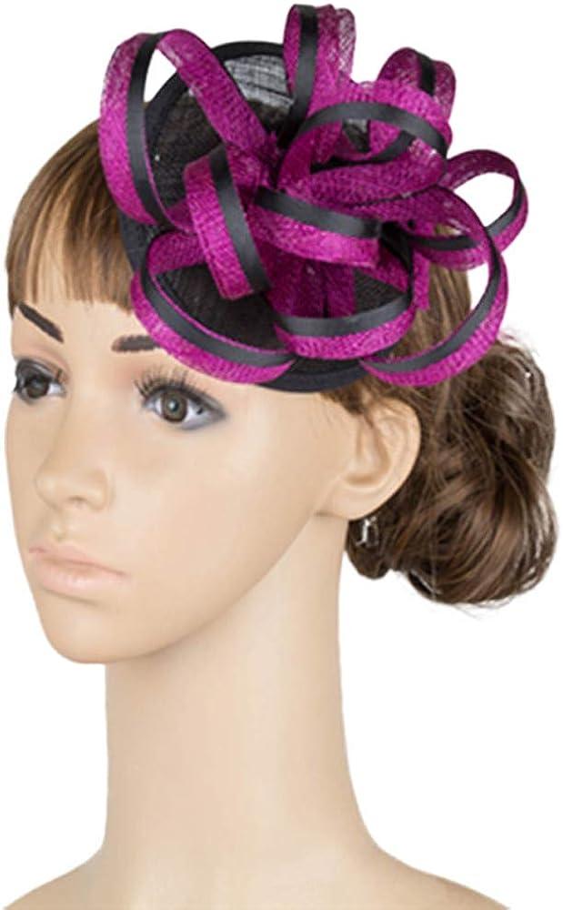 Feather Kentucky Sinamay hat Ladies Derby Hair Accessories Fancy Fascinators MYQ017