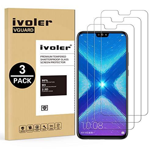 iVoler [3 Pack] Pellicola Vetro Temperato per Huawei Honor 9X Lite/Huawei Honor View 10 Lite, Pellicola Protettiva, Protezione per Schermo - Transparente