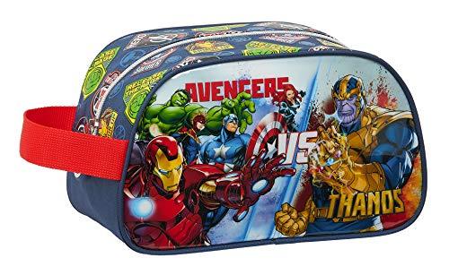 safta Neceser Escolar Infantil Mediano con Asa de Avengers Heroes Vs Thanos, 260x120x150mm, azul marino/multicolor, m (M248)