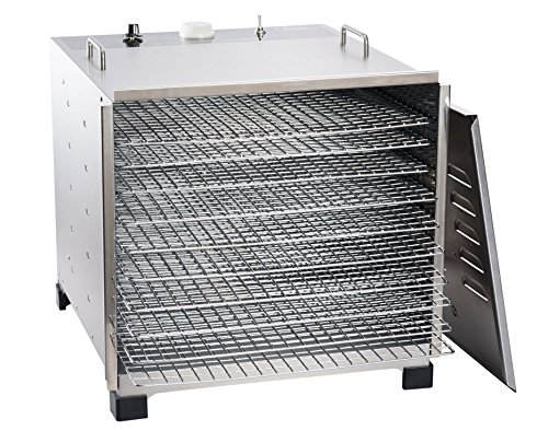 LEM Products 778A Stainless Steel 10 Tray Dehydrator w/ timer