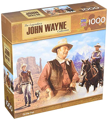 MasterPieces John Wayne Jigsaw Puzzle, On The Trail, Legendary Collection, 1000 Pieces