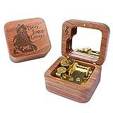 Caja De Música De Caja De Palisandro De Davy Jones, Mecanismo De Madera Tallada, Regalo Musical De Cuerda para Navidad