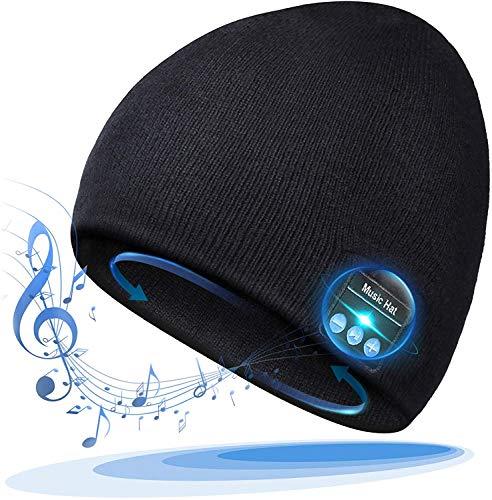 Idee Regalo Natale Uomo Donna Berretto Musicale Bluetooth regalo di Natale Cappello Invernali Lavorato Bluetooth 5.0 Berretto...