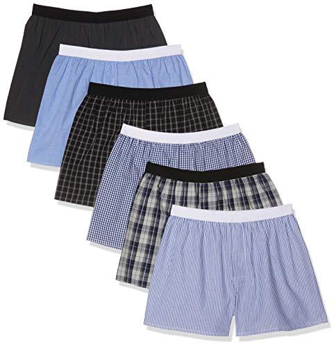 CityLife City Life Elastic Boxershorts, Mehrfarbig Band Ww-6-1), Large (Herstellergröße: L), 6er-Pack