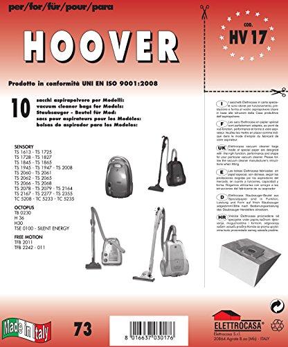 HV 17 sacchetti per aspirapolvere confezione da 10 sacchi carta