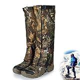 Peakit Hunting Leg Gaiters Waterproof Hiking Boot Gaiters Camo Snow Shoe Covers, Outdoor Skiing Gators for Men and Women (L,XL)