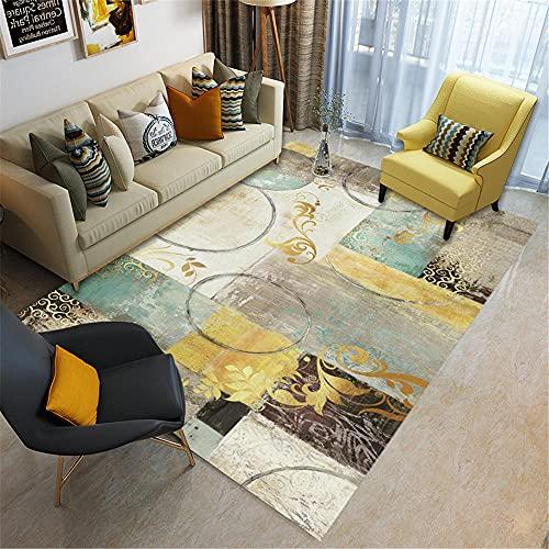 cuadro decoracion habitacion alfombras salón Alfombra de terciopelo de cristal de la sala de estar beige gris duradero, resistente al desgaste y sin desvanecimiento dormitorios juveniles 160X230CM 5ft