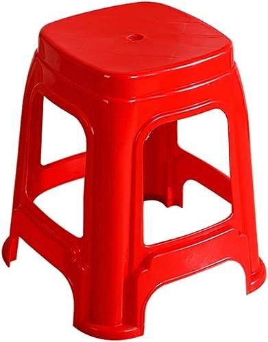 CJX-Step Stools Roter Hocker, stapelbarer Kunststoffhocker Rutschfest verdicken Hause Hocker Student Hocker Makeup Hocker Outdoor Hocker tragbar mit Hocker (Farbe   Rot)