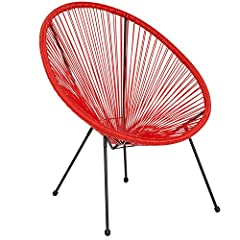 Tired of the same old chairs? Add some spice with this oval woven basket rattan lounge chair and relax in the comfort of your home, on the patio or by the pool. Add some decorative pillows in cool shapes and prints to enhance the look. Flexible bunge...