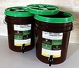 2 Bucket Bokashi Composting System   Simple In-Home Composting Bin (2 lbs of Kashi Blend) (2 lbs of Kashi Blend)