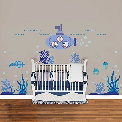 Walplus Wandaufkleber Ocean World Abnehmbare Selbstklebend Wandbild Kunst Aufkleber Home Dekoration Wohnzimmer Schlafzimmer Büro Tapete Kinderzimmer Geschenk Mehrfarbig