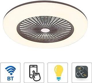 Bedler Ventilador de Techo con iluminación Luz LED de 180V-265V con aplicación Soporte de Control de teléfono móvil Conexión Bluetooth para Dormitorio Sala de Estar Comedor
