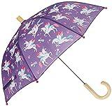 Hatley Girl's Printed Umbrella Raincoat, Rainbow Winged Unicorns, One Size