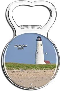 Weekino USA America Nantucket Great Point Lighthouse Fridge Magnet Bottle Opener Beer City Travel Souvenir Collection Stro...
