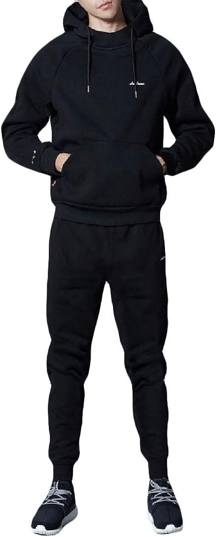 Winwinus Men Athletic Leisure Hooded Jogger Activewear Set