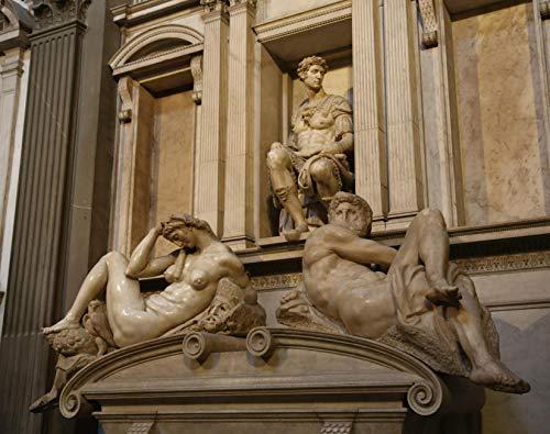 A Michelangelo Buonarroti Up Grabmal Von Giuliano II De Medici Michelangelo Cappelle Medicee Florenz Rompecabezas de Madera 1000 Piezas de Juguete para Adultos DIY Challenge Décor